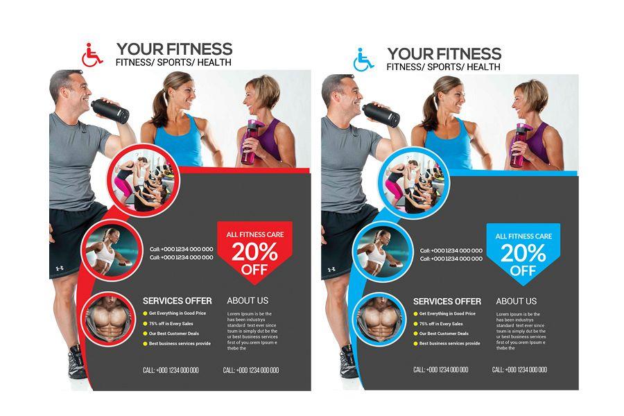 Fitness Flyer by sanaimran Design Bundles
