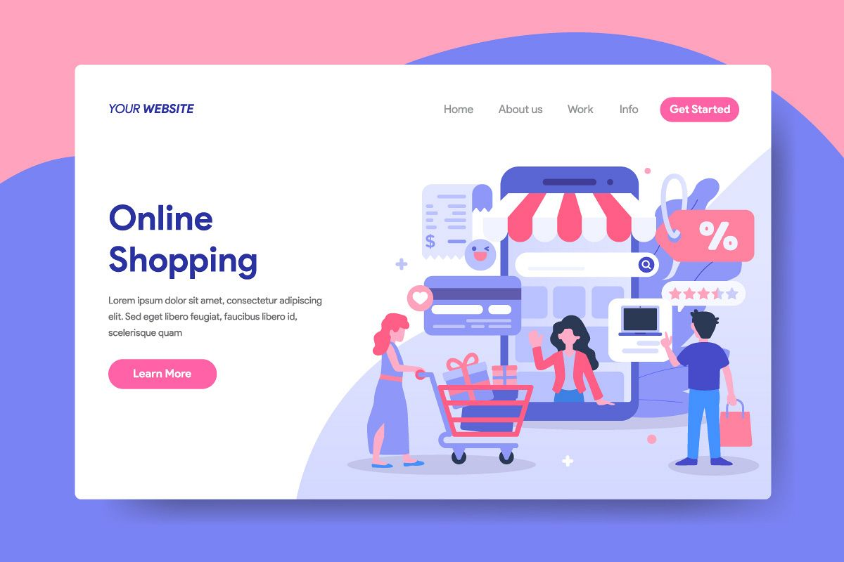 Design Online Shop Online Shopping Illustration For Landing Page
