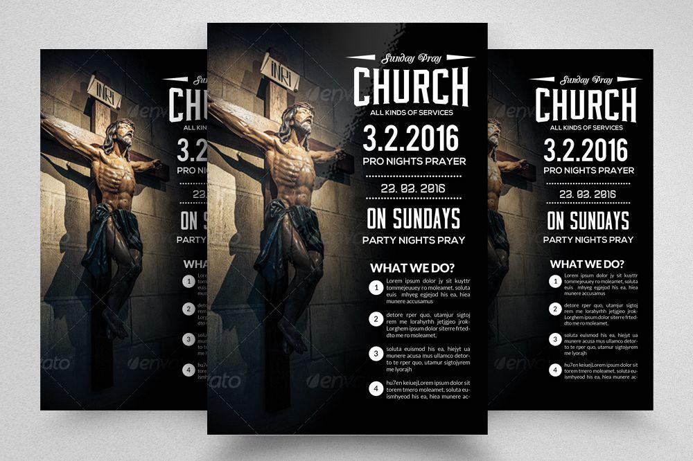 Sunday Prayer Church Flyer Template