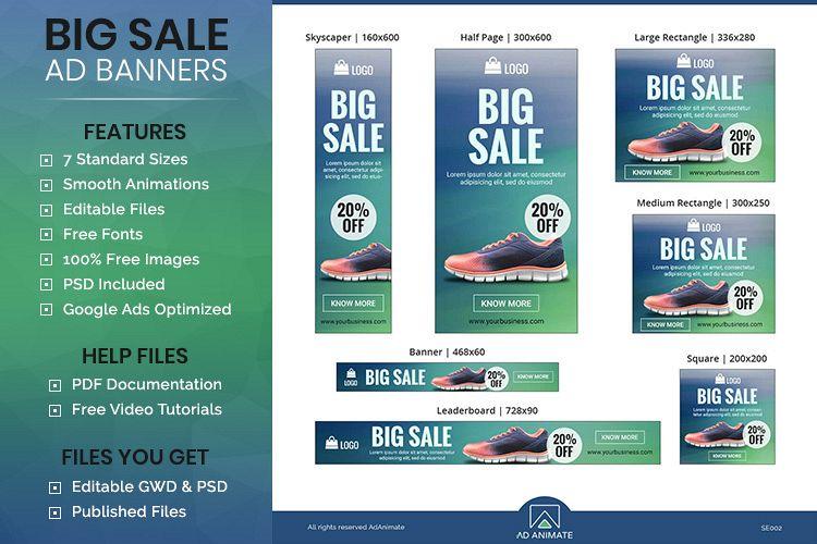 Big Sale Animated Ad Banner Template - SE002
