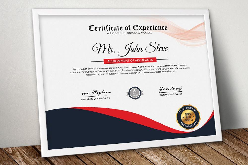 4 Format Certificate Design