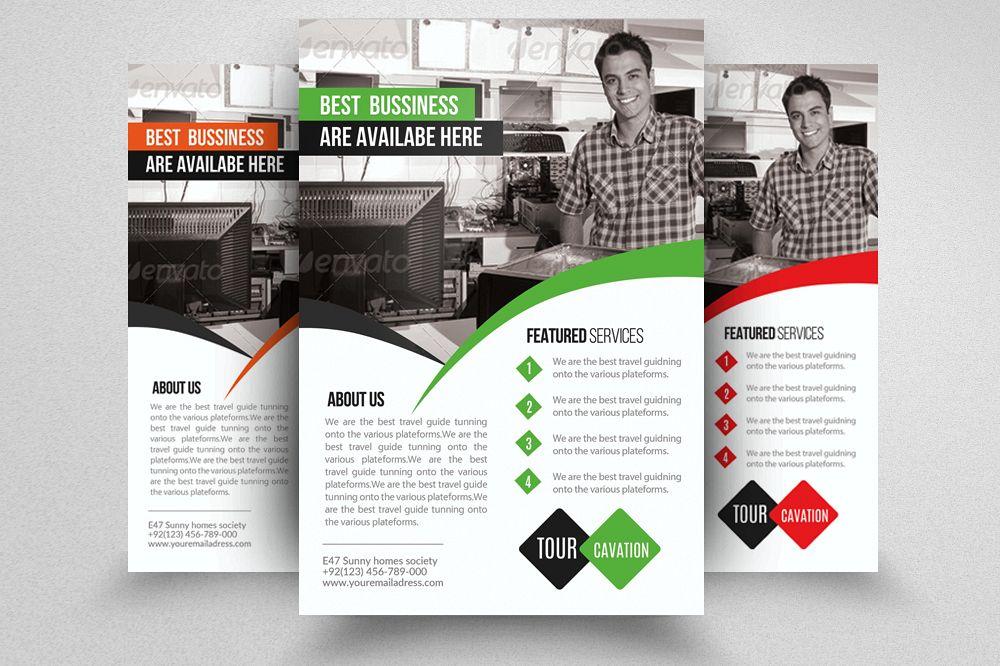 Computer Repair Flyer Template by Des Design Bundles - computer repair flyer template