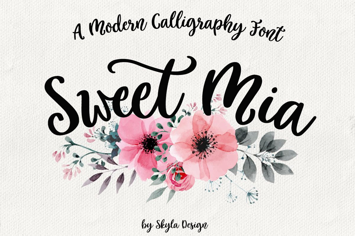 Calligraphy Fonts W Modern Calligraphy Font Sweet Mia