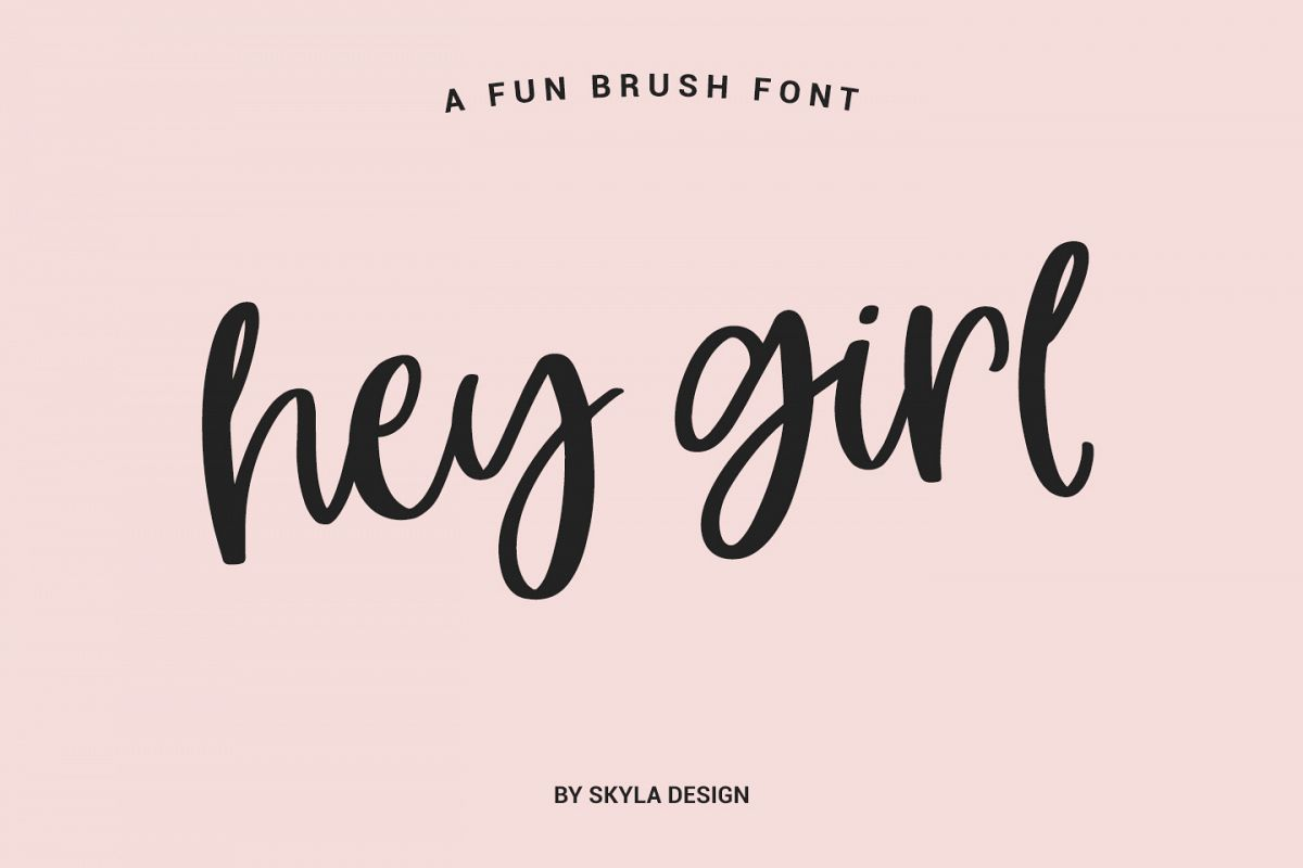 Calligraphy Fonts W Hey Girl Modern Brush Calligraphy Font