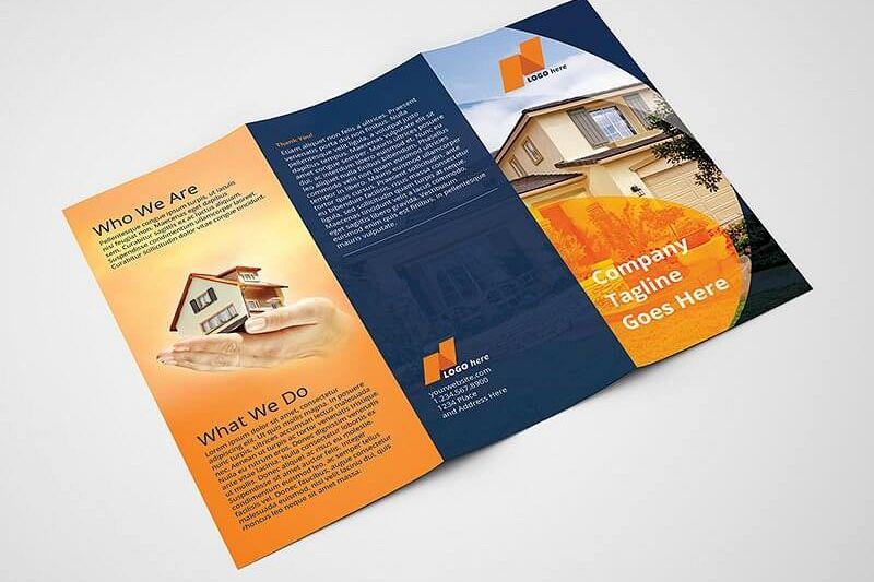 Real Estate Tri-Fold Brochure Template