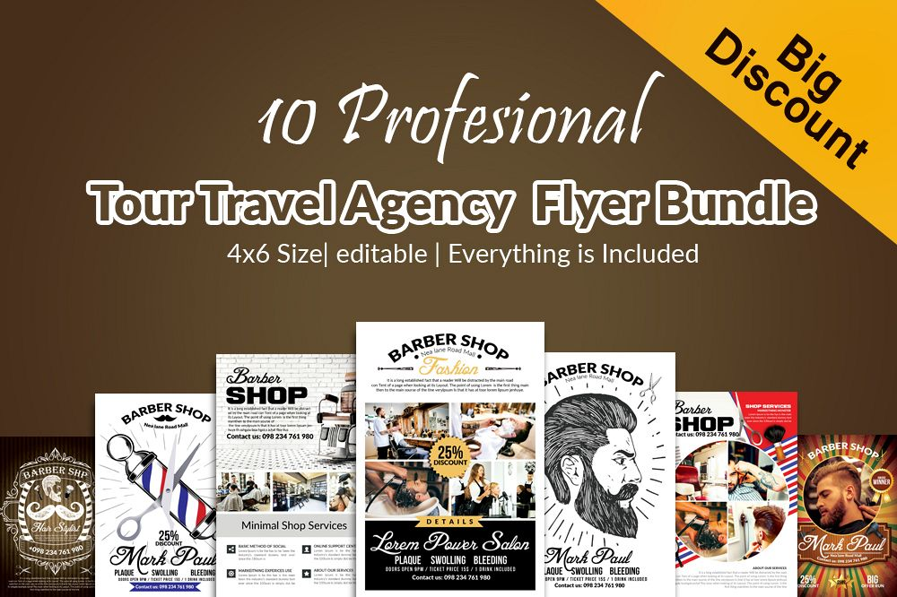 10 Barber Shop Psd Flyer Templates Bund Design Bundles