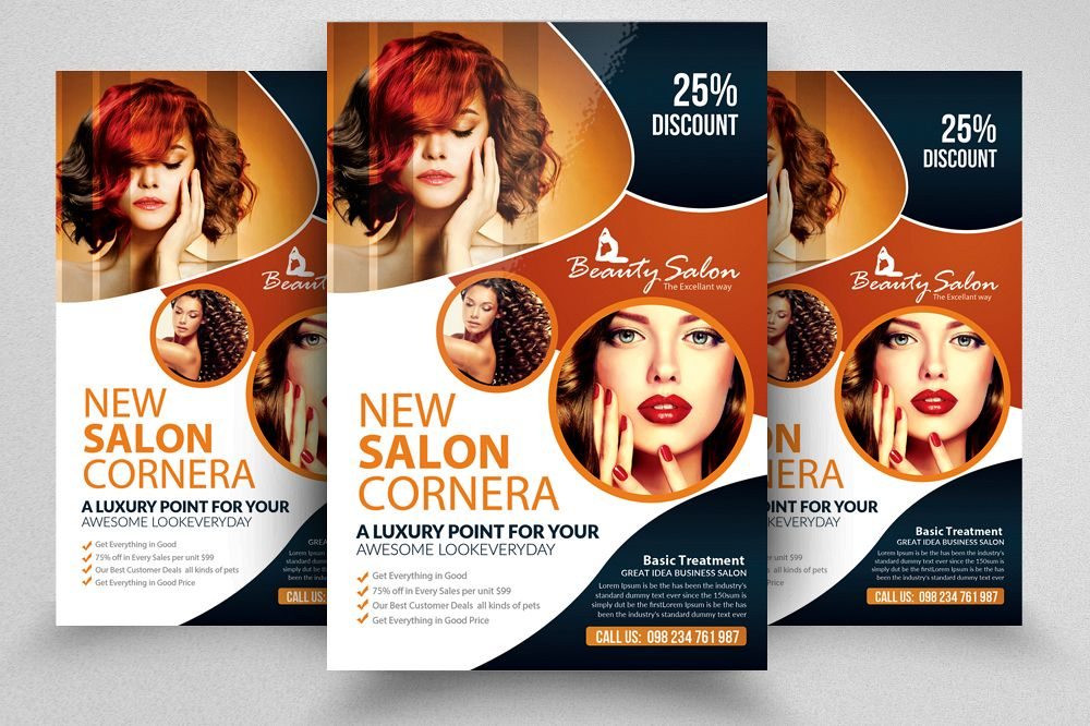 Beauty Salon Flyer Template by Designhu Design Bundles