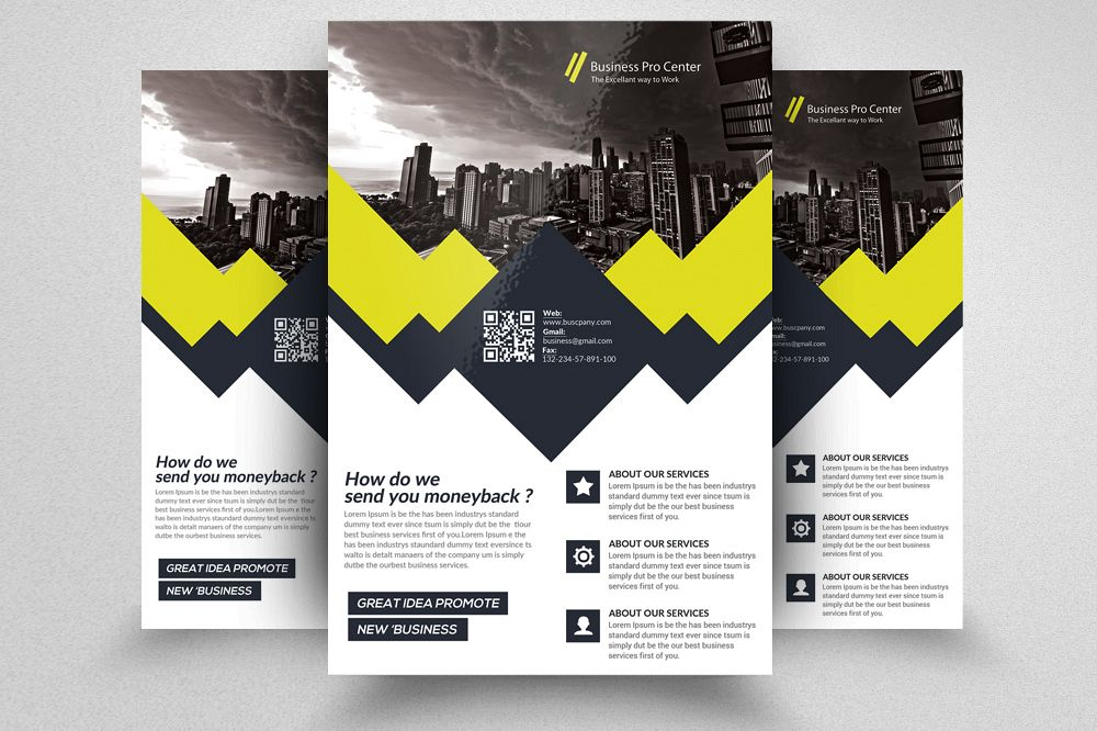 Global Network Services Flyer Templates