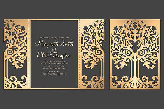 Roses gate fold card 5x7, Cricut Templa Design Bundles