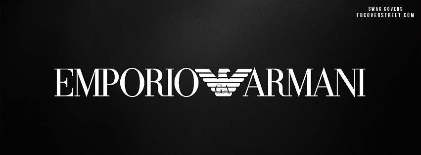 Wallpaper Black Design Emporio Armani Logo Facebook Cover Fbcoverstreet Com