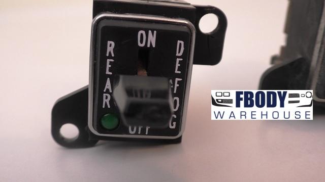 1970 - 1981 Trans Am Rear Defrost Switch GM Unit