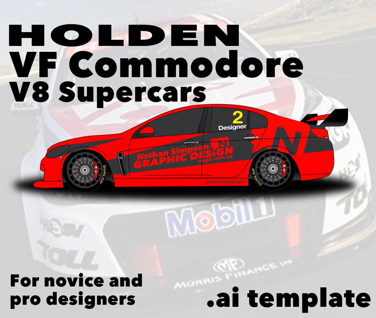 Car Wallpaper For Mobile Holden Commodore Vf V8 Supercar Template By Nathansimpson