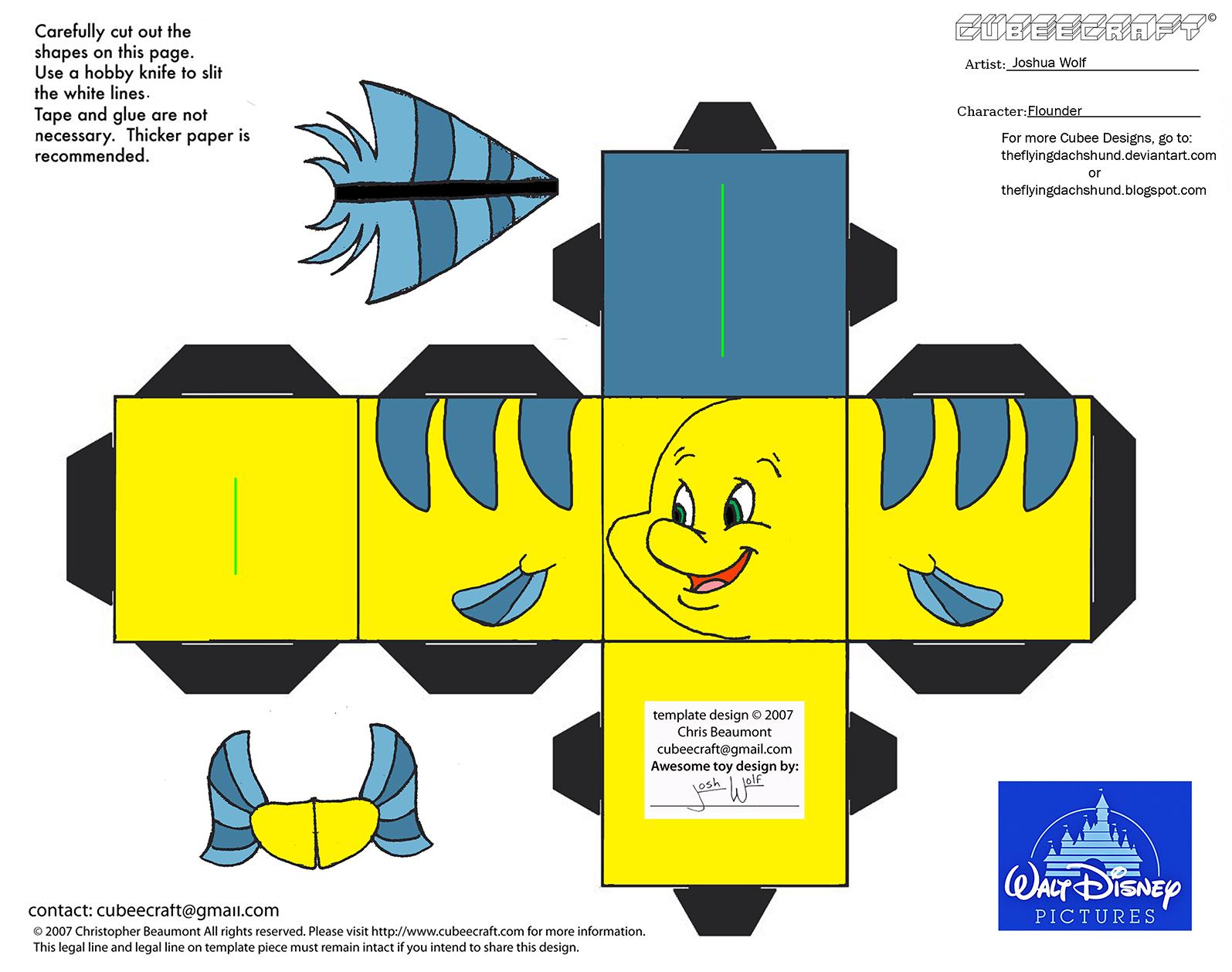 Wallpaper Minecraft 3d Dis43 Flounder Cubee By Theflyingdachshund On Deviantart
