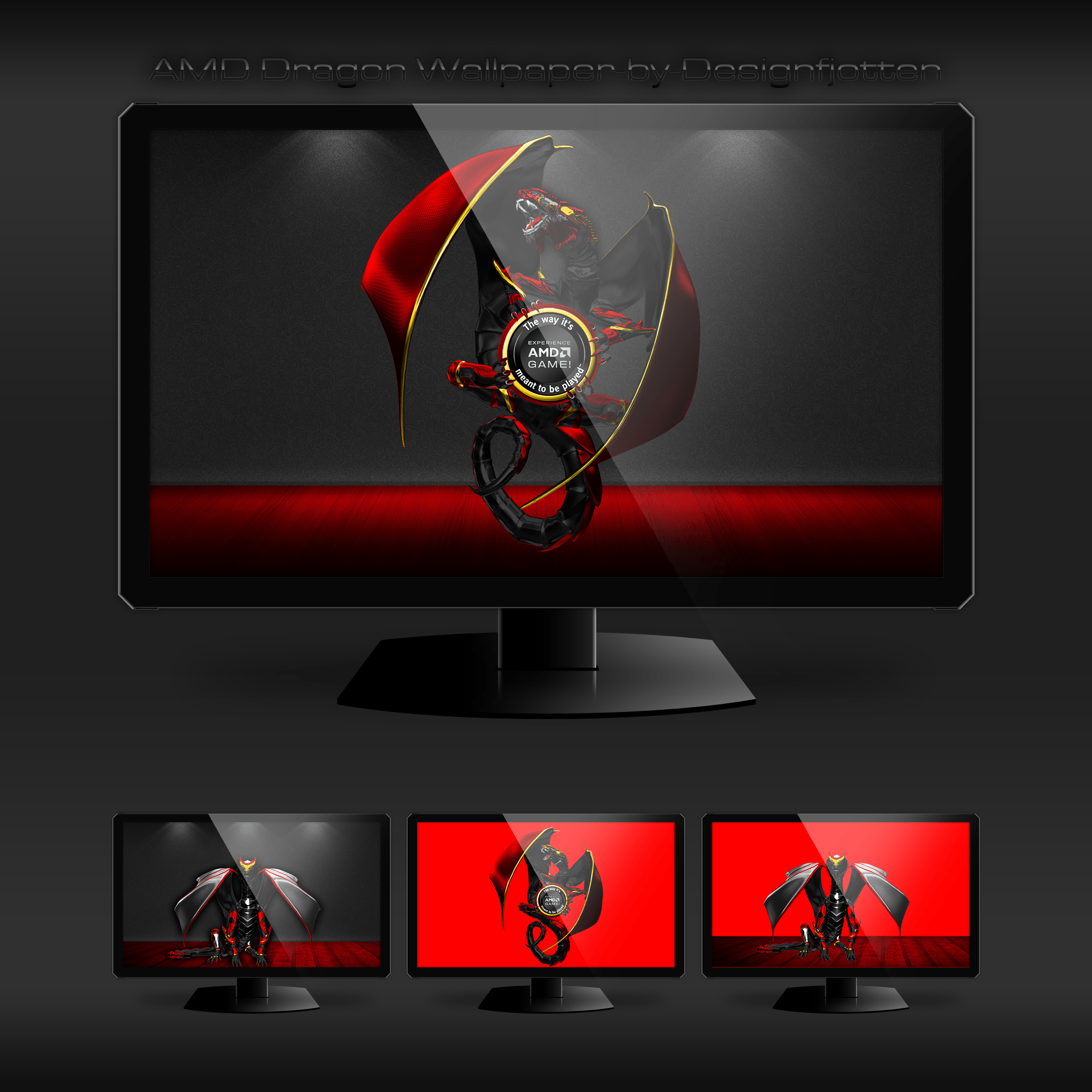 Msi Wallpaper Full Hd Amd Dragon Wallpaper By Designfjotten By Designfjotten On