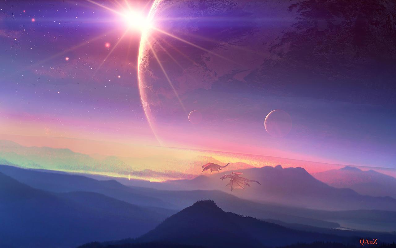 Fall Desktop Wallpaper Load Peaceful Sunrise By Qauz On Deviantart