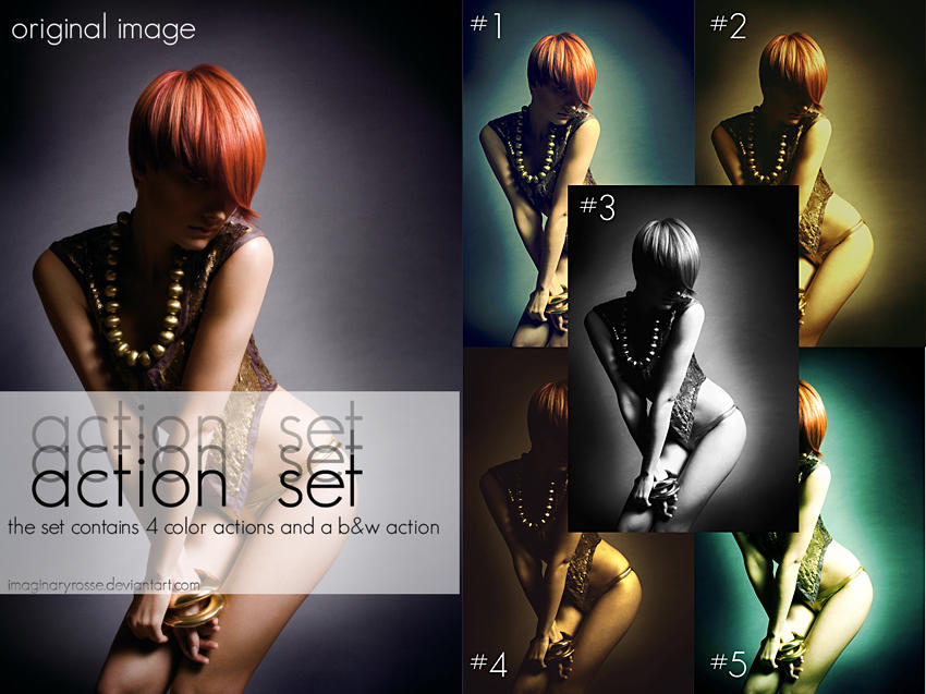 Action Set 1 by ImaginaryRosse 10 Great Photoshop Actions Packs