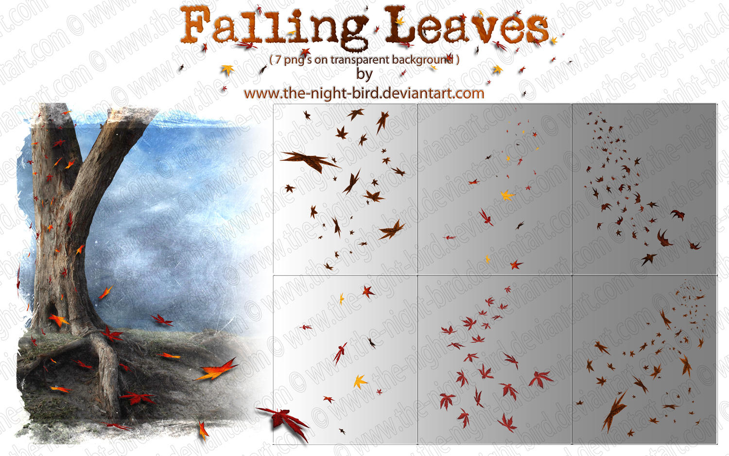 Fall Of The Leafe Wallpaper Falling Leaves Png S By The Night Bird On Deviantart
