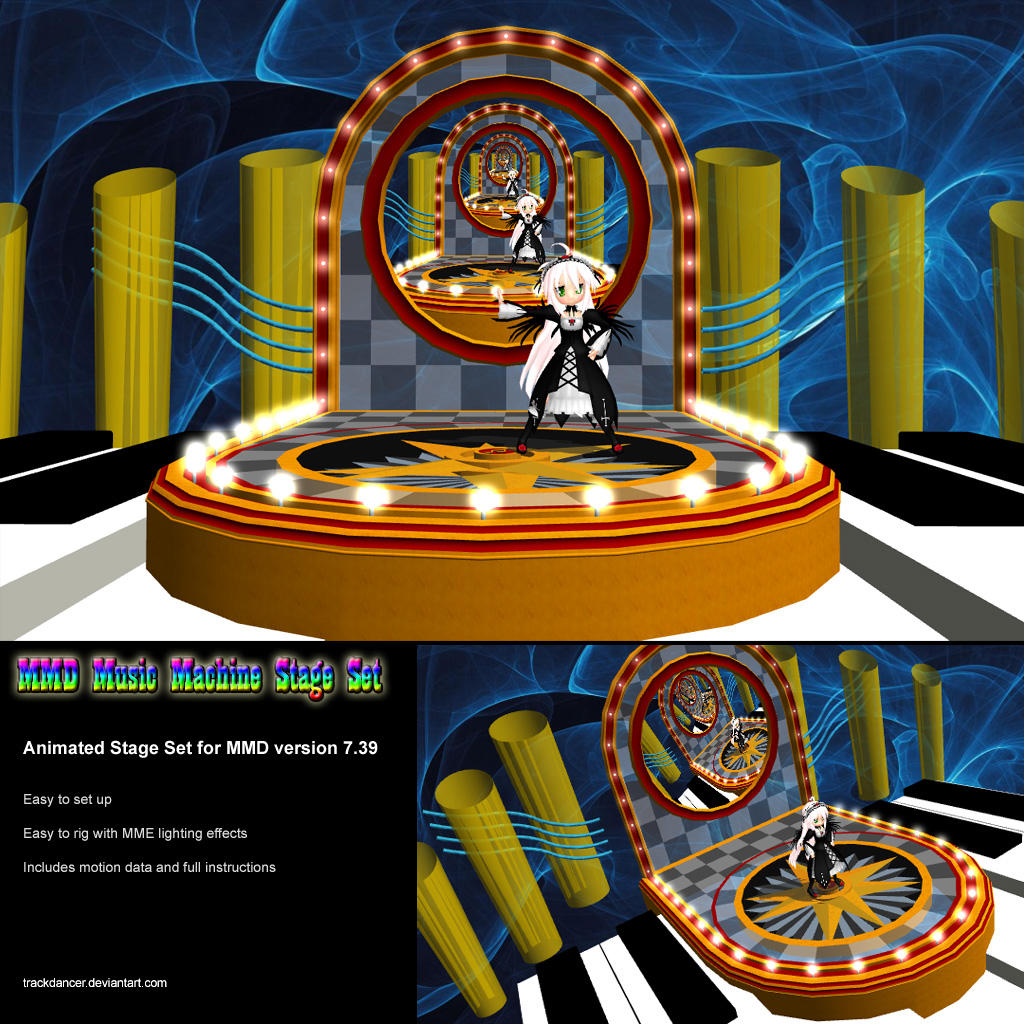 Danganronpa The Animation Wallpaper Mmd Music Machine Stage Set By Trackdancer On Deviantart