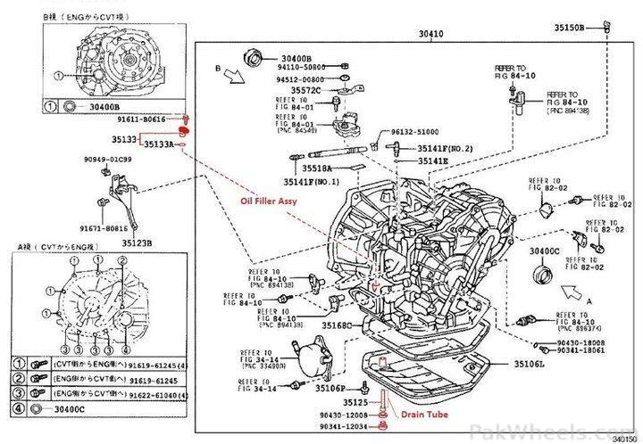 toyota corolla transmission diagram