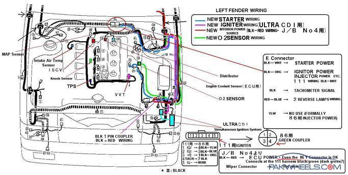 engine starter circuit diagram