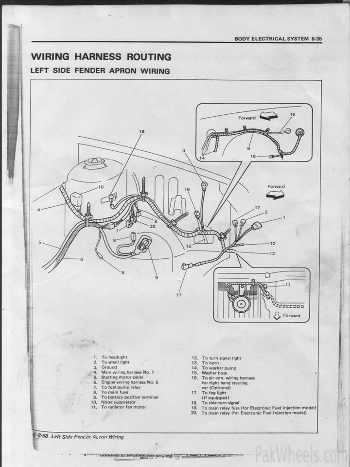 SUZUKI CULTUS WIRING DIAGRAM - Auto Electrical Wiring Diagram