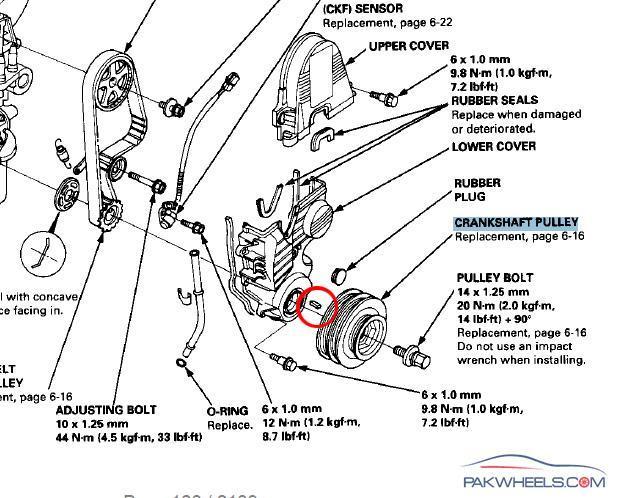99 honda civic Motor diagram