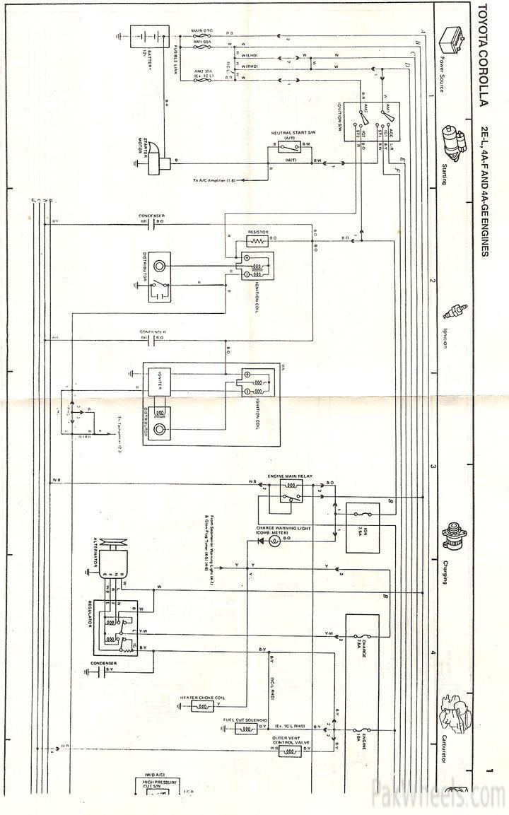 toyota 4 7 engine electrical diagrams