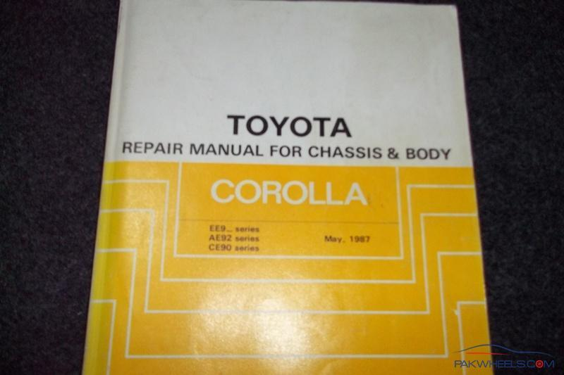 Toyota Corolla repair manual for EE90,AE92 from 1987-91 - Corolla