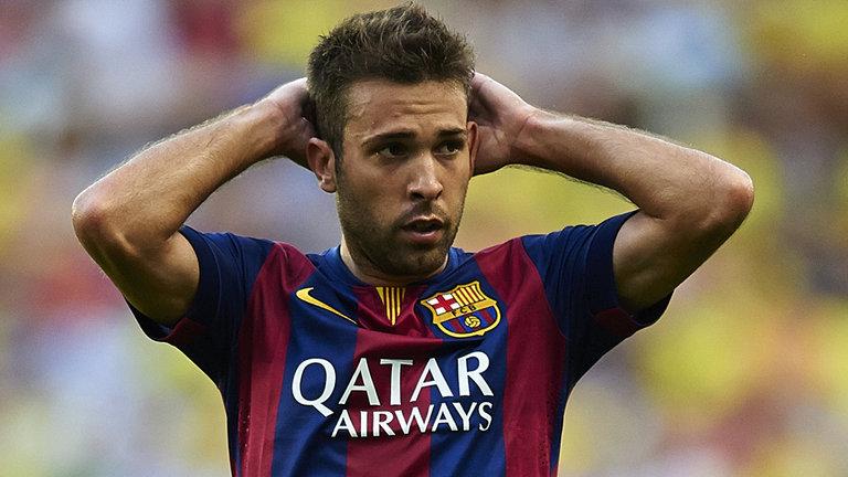 Barcelona defender Jordi Alba