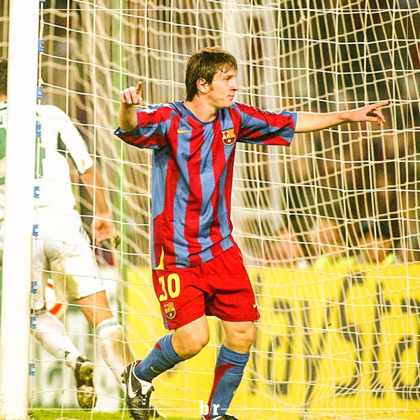 Ten years since Leo Messi's first Champions League goal