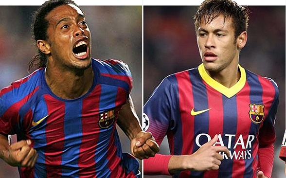 Neymar recreates Ronaldinho's goal against Osasuna
