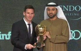 Messi picked up another prize in 2015