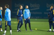Last training session before entertaining Betis