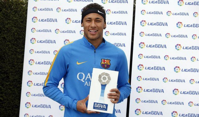 Neymar named player for the month