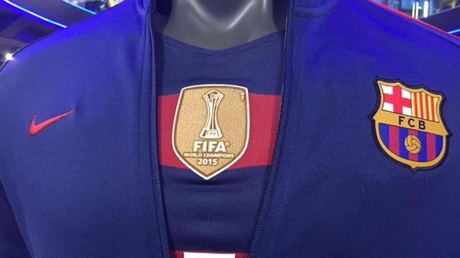 Barça shirt with world champions badge