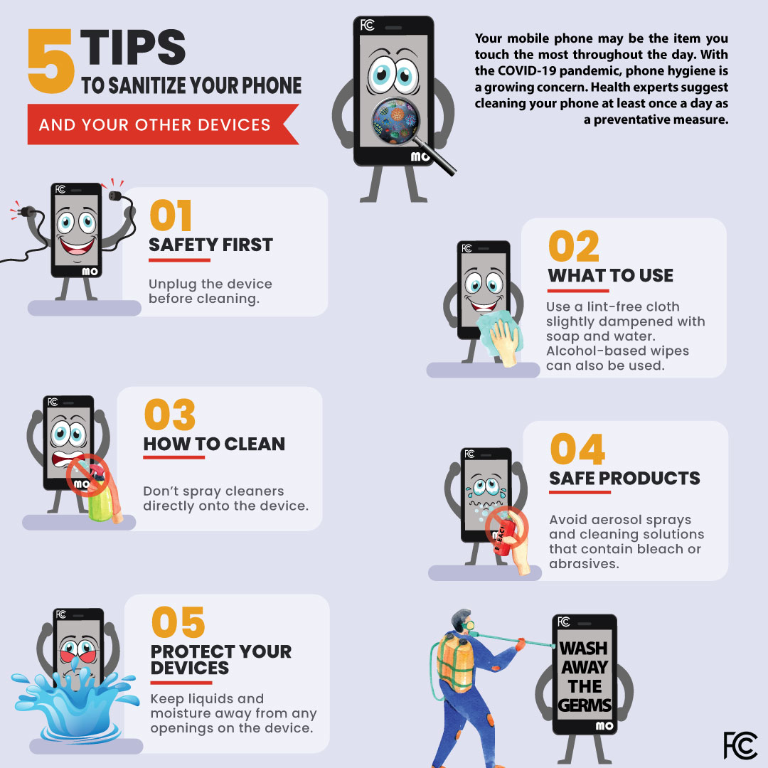 How To Sanitize Your Phone And Other Devices Federal Communications Commission