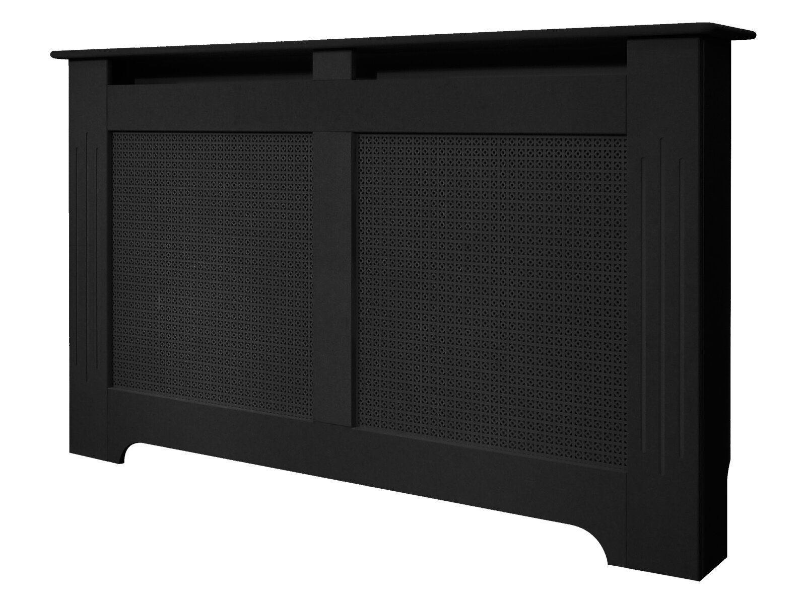 Dark Wood Radiator Covers Large Black Burford Radiator Cover 1600mm Fireplace World