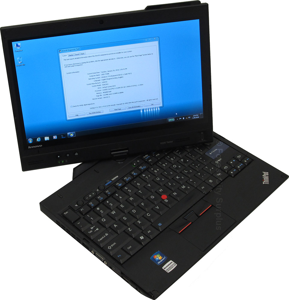 Lenovo Laptop Lenovo Thinkpad X220t Intel I5 2 5 Ghz Cpu Convertible Laptop Tablet With 12 25 Inch Touch Screen