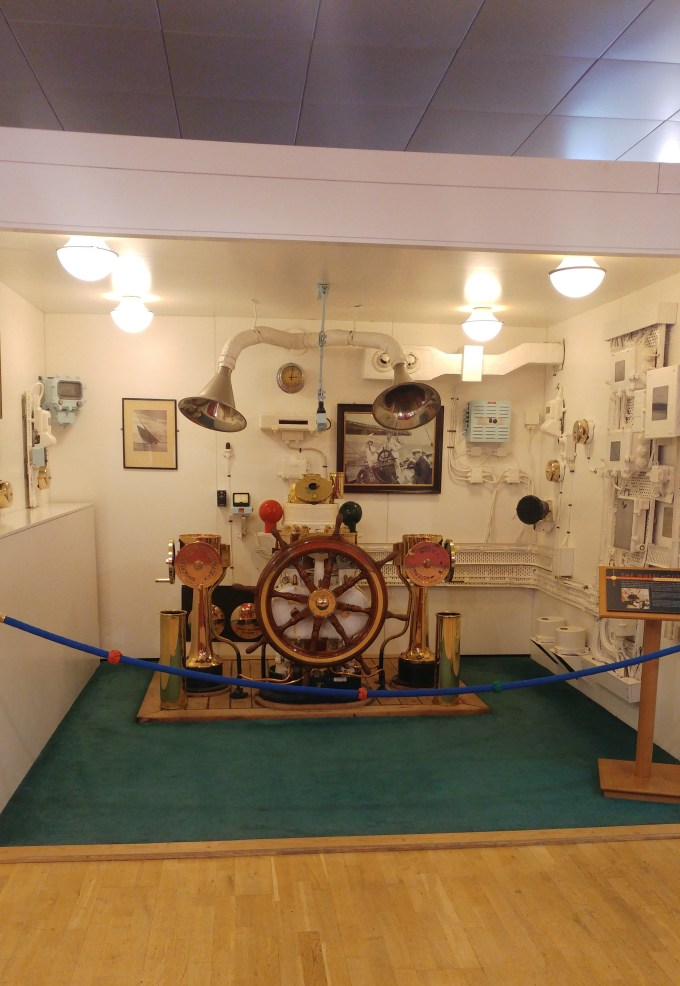 Wheel House, Royal Yacht Britannia - Edinburgh Scotland
