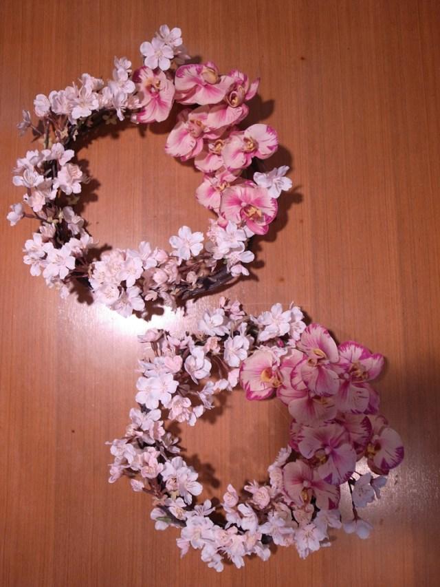 BUD4月レッスン桜リース4