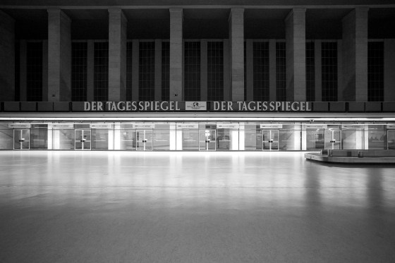 Empty rooms in the main hall of Berlin Tempelhof Airport
