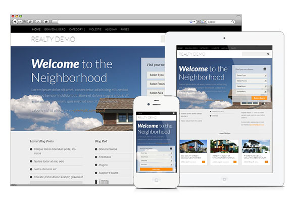 Free Real Estate WordPress Theme with property management - rent roll form