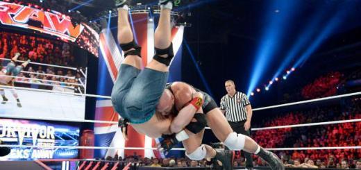 Ryback vs John Cena Raw 11:10:14