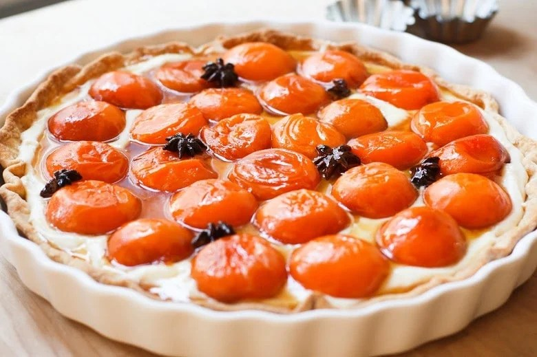 Honey Roasted Apricot Tart with Star Anise