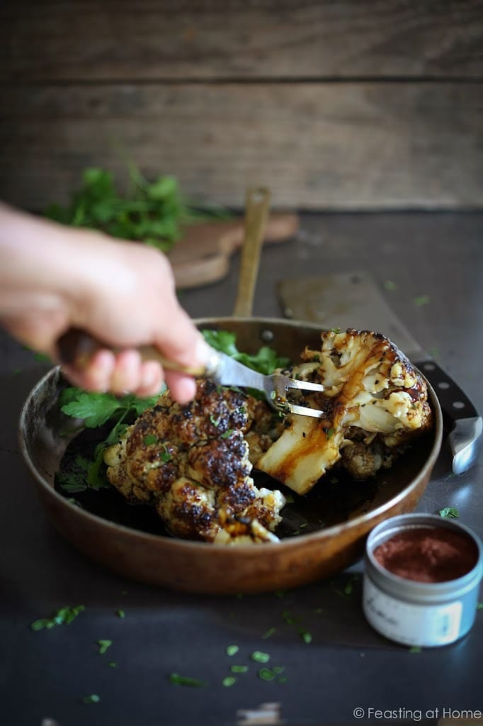 tasty recipe for Whole Roasted Cauliflower with Tahini Sauce and ...