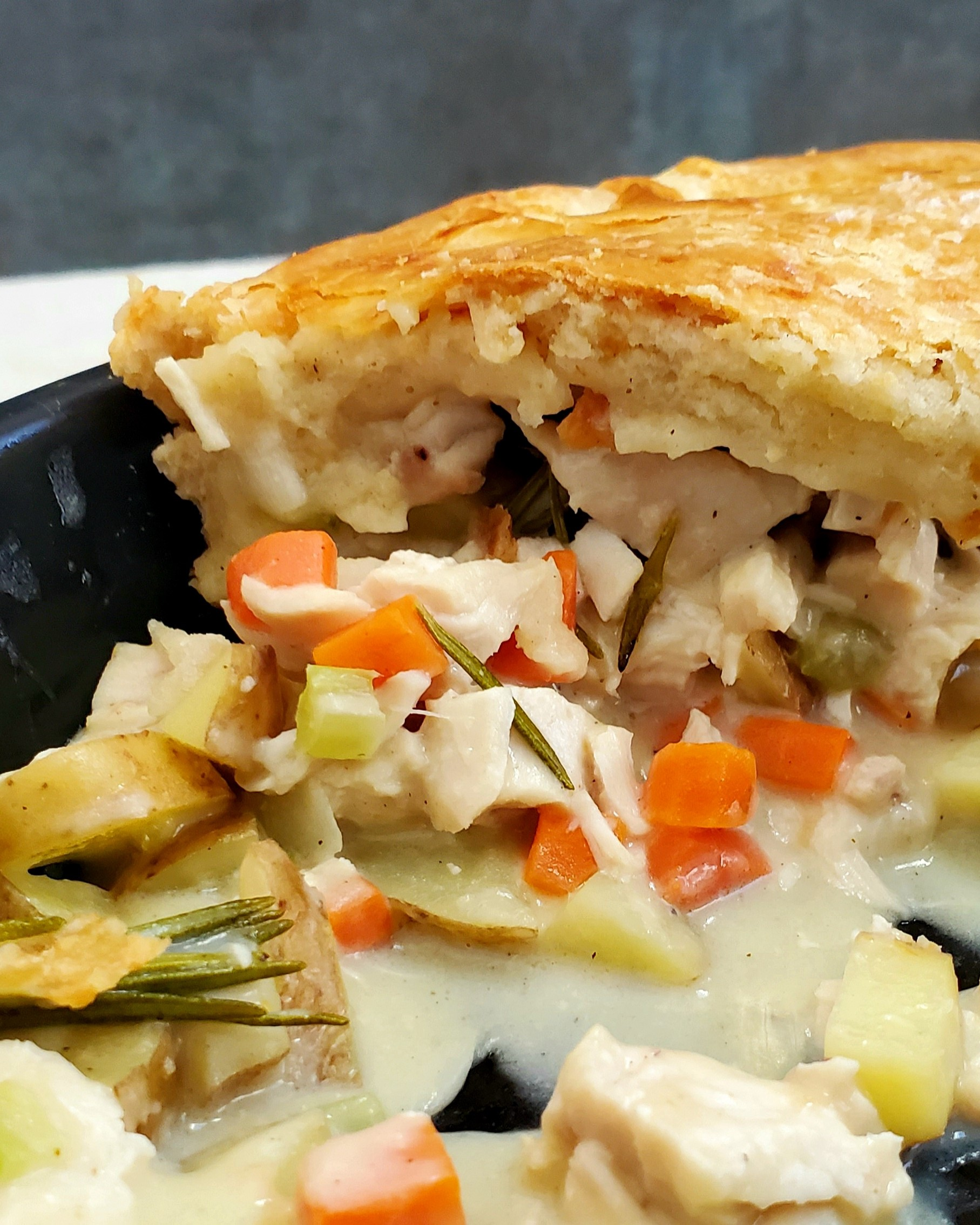 Double Crusted Creamy Chicken Pot Pie From Scratch Feast In Thyme