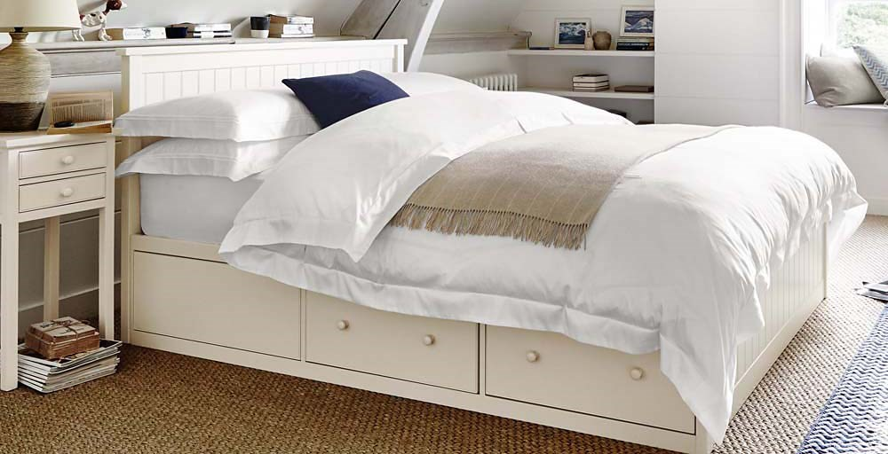 Olivia Storage Bed Feather Black