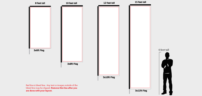 Rectangle Banner Flag Templates for High Quality Custom Flags