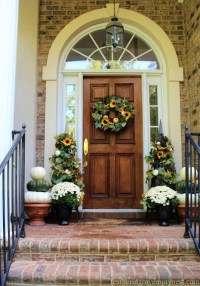 Something Different For Fall Front Door Decor - Feathering ...
