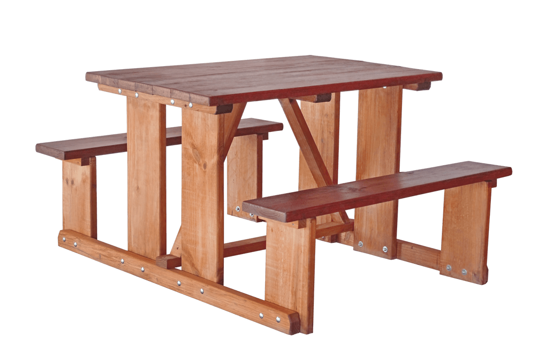 Wooden Bench Table Tavern 4 Seater Wooden Bench
